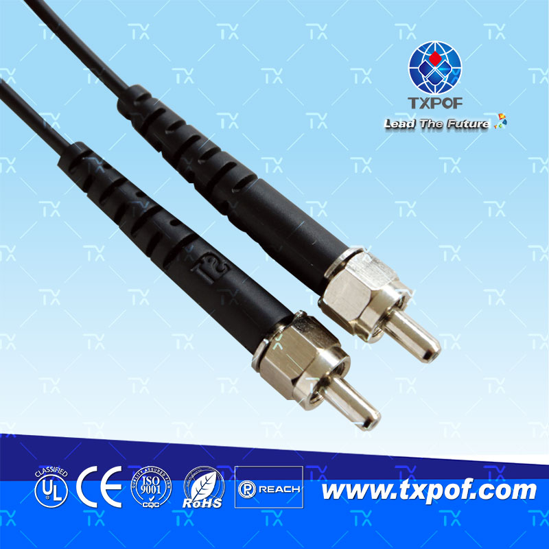 SMA塑料光纤跳线(产品编码 TX-SMA/SMA-B)