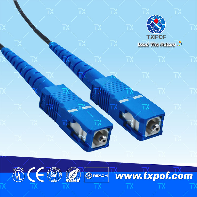 SC塑料光纤跳线(产品编码 TX-SC/SC-B)