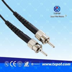 ST塑料光纤跳线(产品编码 TX-ST/ST-B)