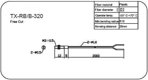 M3精细反射型光纤传感器(TX-RB/B-310)供应商