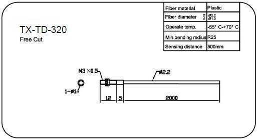M3对射型光纤传感器(TX-TD-310)制造商